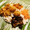 バナナの葉で包んだお弁当「ランプライス」、スリランカ料理教室